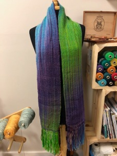 Custom dyed Gems 6/4 warp with Gems 6/2 weft